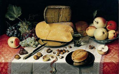 Stilleven met kaas, Floris Claesz. van Dijck 1613